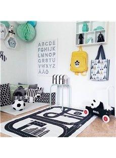Roads Printed Rectangular Cotton Baby Play Floor Mat/Crawling Pad