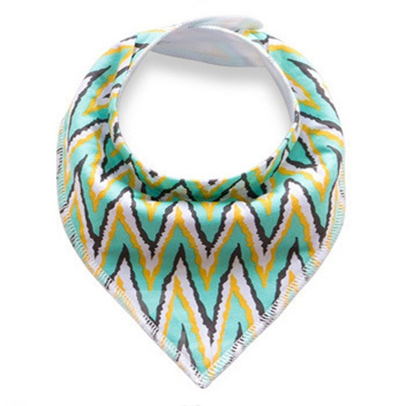 12*12in Waves Pattern Simple Style Cotton Baby Bib