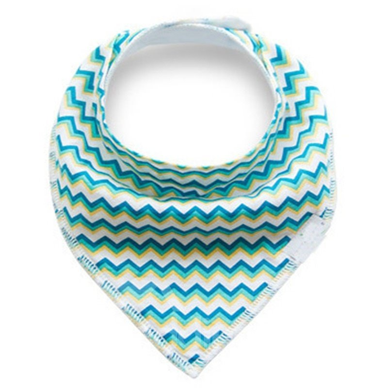 12*12in Colorful Waves Pattern Simple Style Cotton Baby Bib