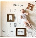 Calendar Printed Cotton Nordic Style White Baby Blanket