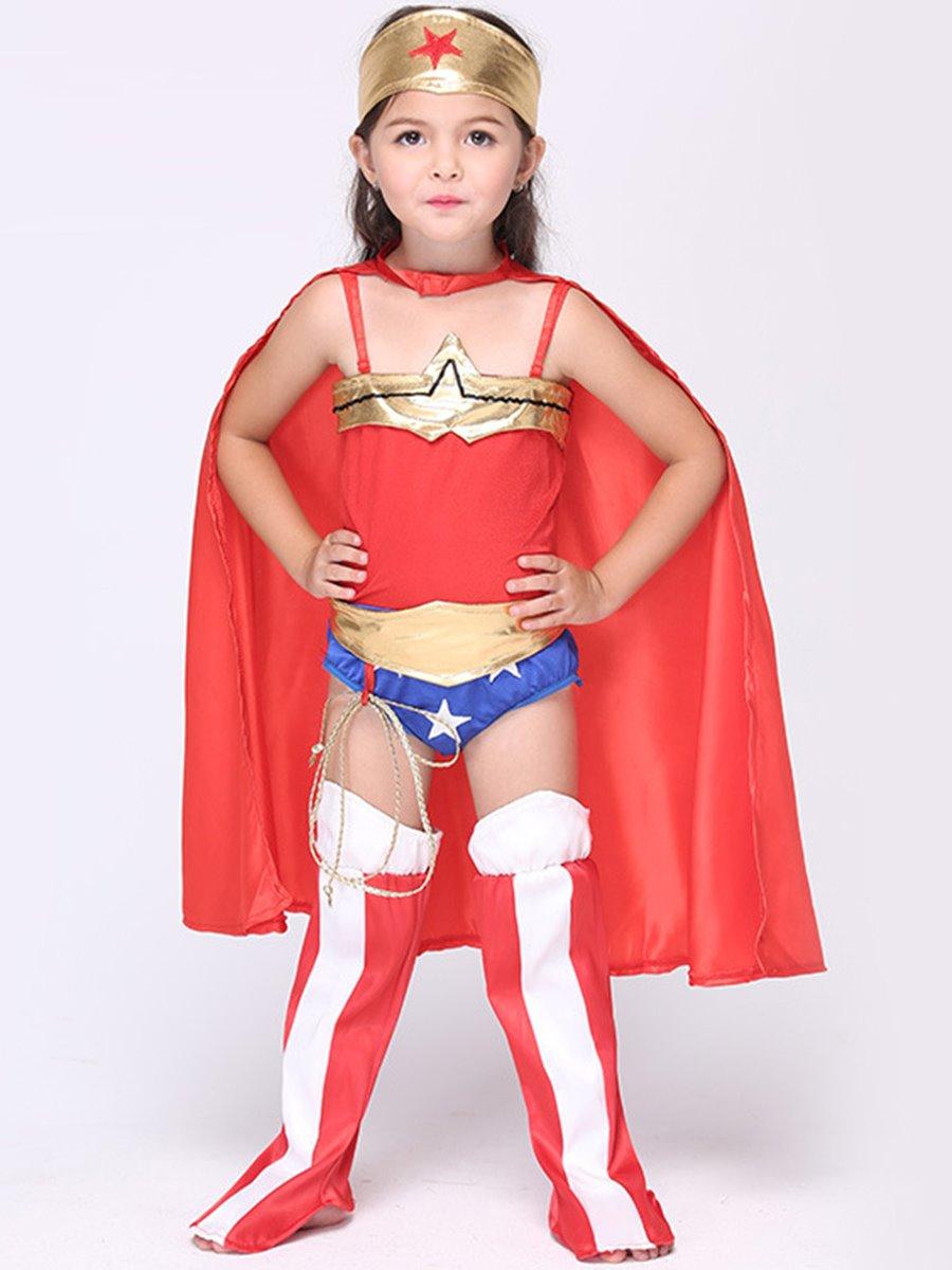 Halloween Costume Wonder Little Women Super Girl Cloth