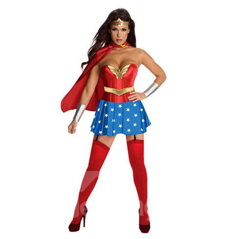 Halloween Costume Wonder Women Cosplay Party Cloth