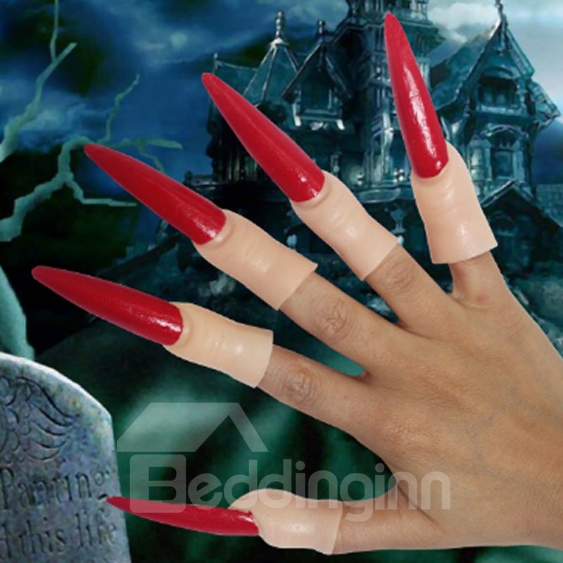 Ghost Gloves Witch Claws Devil Nails Fingers Makeup Nail