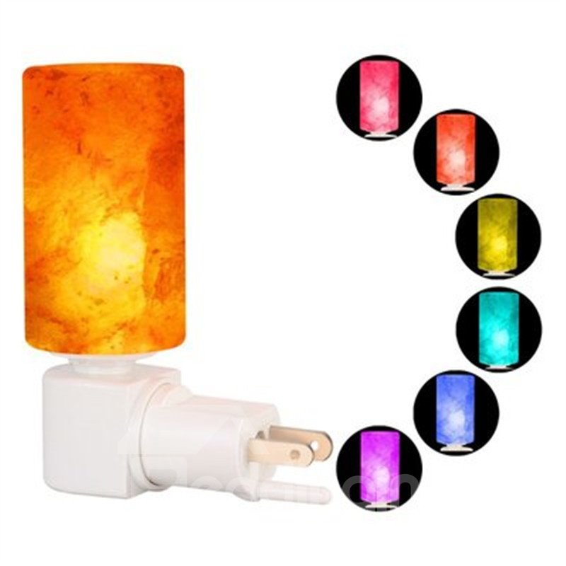 Colorful Fashion and Modern Cylinder Himalayan Ionic Crystal Salt Lamp