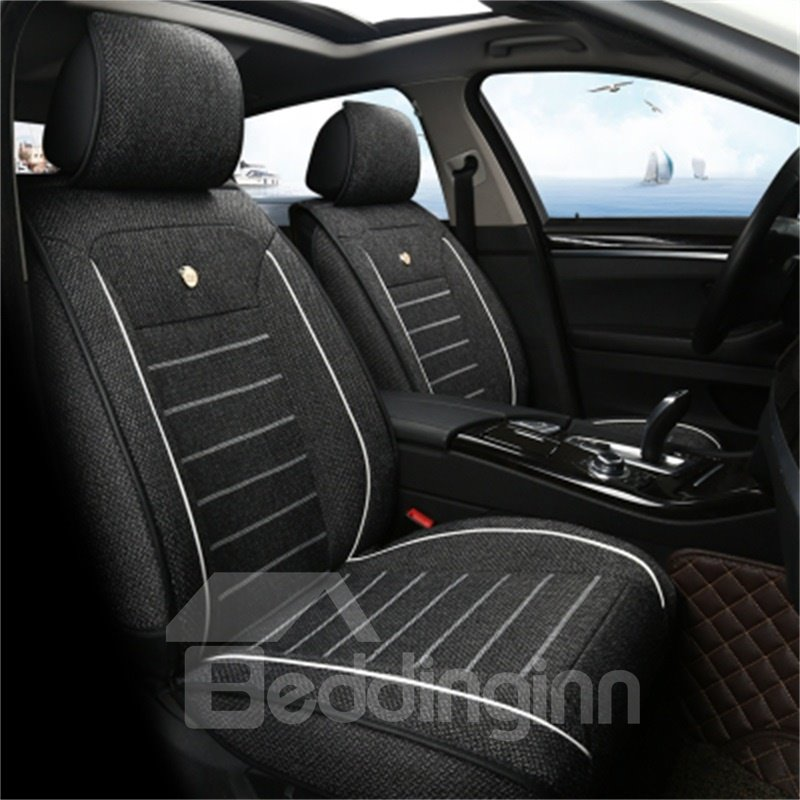 Refreshing Linen Durable Cost-efficient Single-seat Universal Car Seat Cover