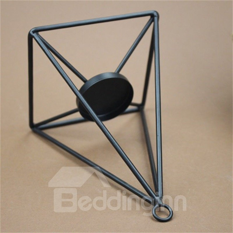 Concise and Modern Iron Desk Decoration Handicrafts Accessories Candle Holder