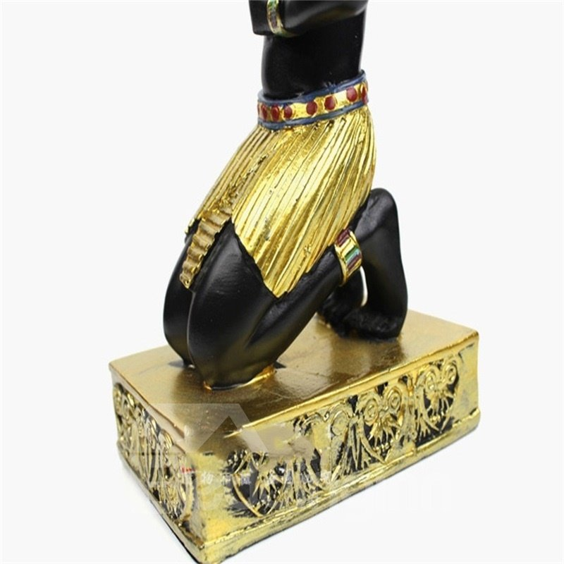 Elegant and Creative Style Egypt Anubis Design Resin Home Decorative Candle Holder