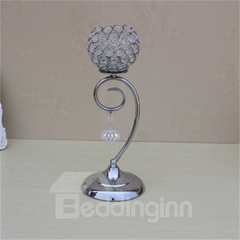 Creative and Concise Silvery European Style Hotel Decoration Handicrafts Candle Holder