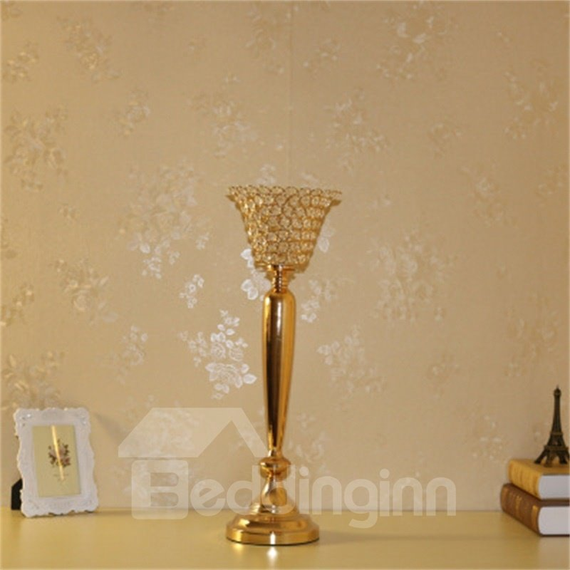 Fashion Wedding Home Decoration Transparent Crystal Hotel Candle Holder