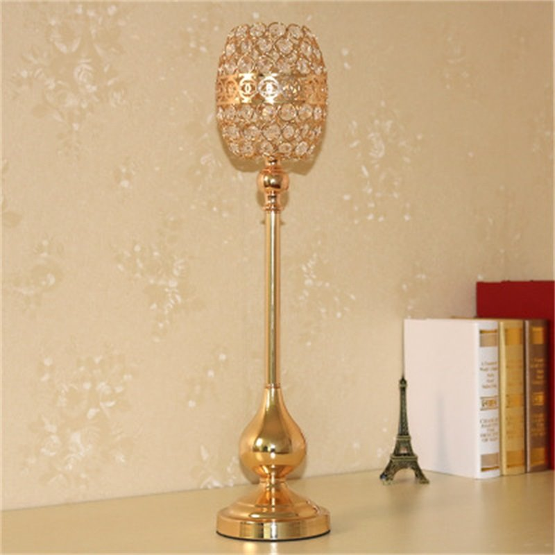 European Crystal Wedding Home Decoration Creative and Modern Candle Holder