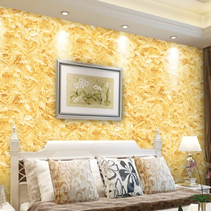 3D Golden PVC Sturdy Waterproof Eco-friendly Self-Adhesive Wall Mural