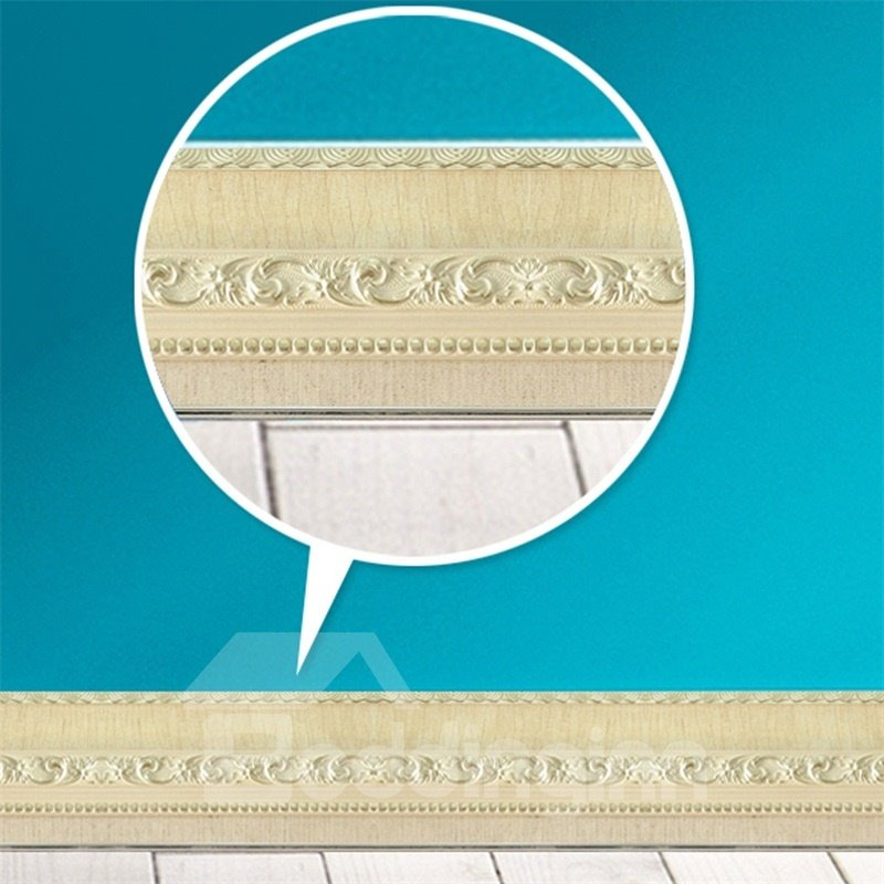 3D Beige Pattern PVC Waterproof Eco-friendly Self-Adhesive Wall Stickers