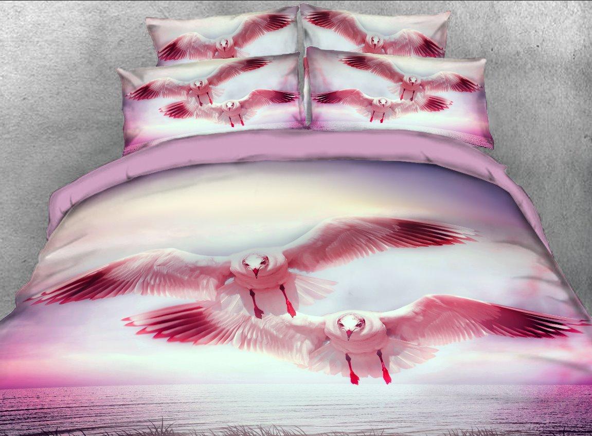 Vivilinen Flying Seagull printed 4-Piece 3D Bedding Sets/Duvet Covers