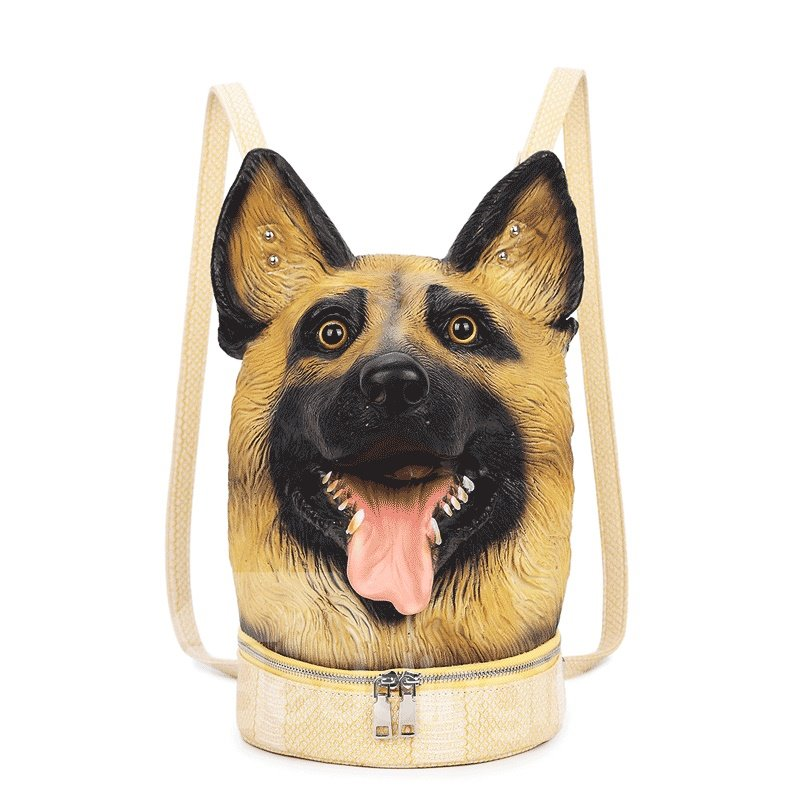3D Dog Shape Fashion Student Backpack Shoulder Bag