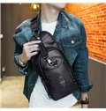 3D Studded Backpack PU Leather Rucksack Shoulder Bag