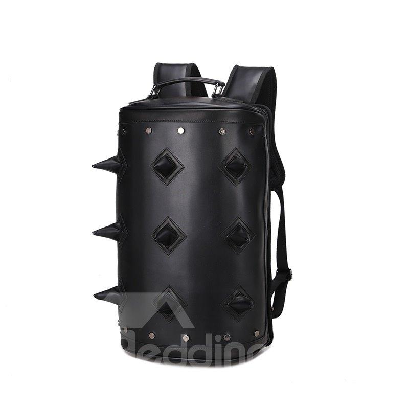 3D Hedgehog Studded Backpack PU Leather Rucksack Shoulder Bag