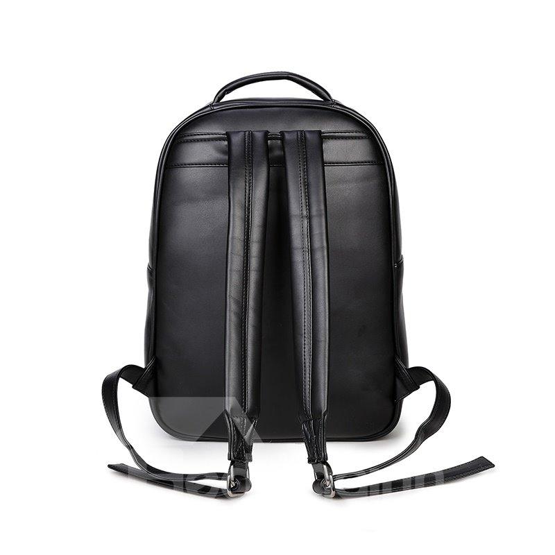 3D Snake Sword Studded College Backpack PU Leather Rucksack Shoulder Bag