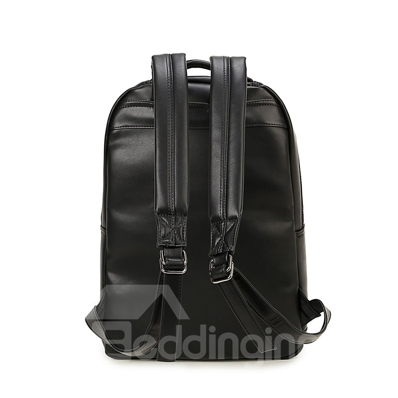 Tiger Head 3D PU Leather Casual Laptop Backpack School Bag