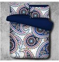 Multicolor Floral Paisley Pattern Exotic Style Polyester 4-Piece Bedding Sets/Duvet Cover