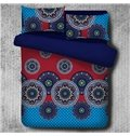 Chic Mandala Pattern Exotic Style Blue Polyester 4-Piece Bedding Sets/Duvet Cover