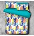 Pineapple Carnival and Colorful Balls Printed Polyester 4-Piece Bedding Sets/Duvet Cover