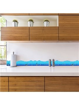 Blue Ocean Printed PVC Waterproof Eco-friendly Baseboard Wall Stickers