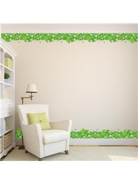 Green Plants Printed PVC Waterproof Eco-friendly Baseboard Wall Stickers