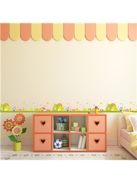 Green Trees Printed PVC Waterproof Eco-friendly Baseboard Wall Stickers