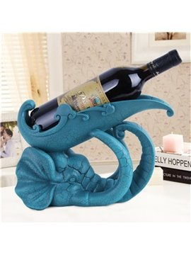 Navy Blue Creative Resin Lovely Elephant Red Wine Holder