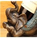 Creative and European Retro Lovely Elephant Table Decoration Wine Holder