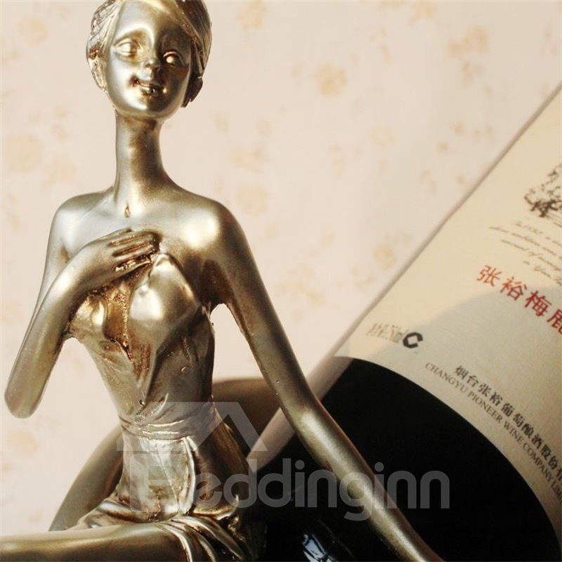 Elegant Lady Wine Cabinet Resin Crafts Modern and Creative Red Wine Rack