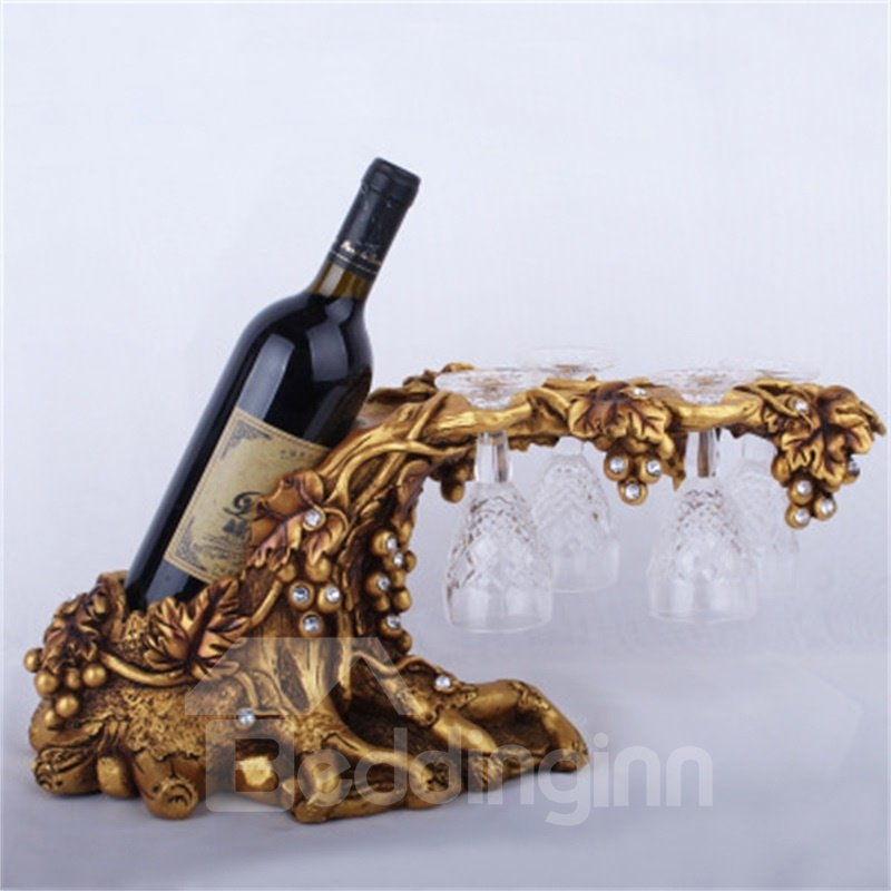 European Red Wine Cabinet Resin Crafts Creative Red Wine Rack