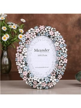 Pastoral and Elegant Fresh Style Flowers Home Decoration Desktop Photo Frame