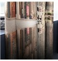 3D City Street Scenery Printed 2 Panels Decorative Custom Curtain for Living Room