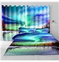3D Dreamy Natural Scenery Printed 2 Panels Custom Bedroom and Living Room Curtain
