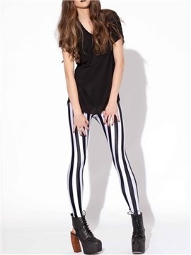 3D Women Leggings Zebra Stripe Pattern Yoga Pants Polyester