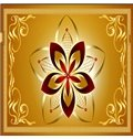 3D Golden Background with Floral Pattern PVC Waterproof Sturdy Eco-friendly Self-Adhesive Ceiling Murals