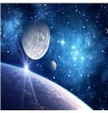 3D Universe Planets Pattern PVC Waterproof Sturdy Eco-friendly Self-Adhesive Ceiling Murals