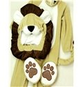 Little Lion Shaped Tails Decoration Polyester Beige Baby Costume