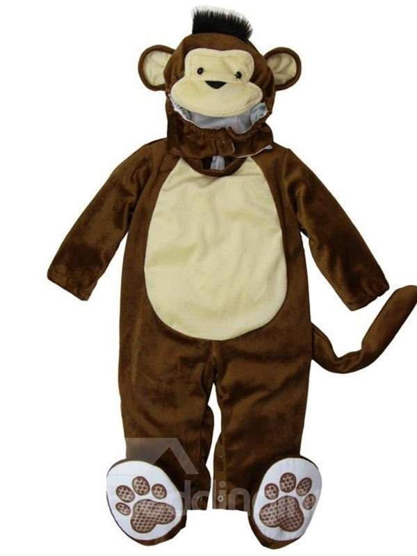 Monkey Shaped Tails Decoration Polyester Brown Baby Costume