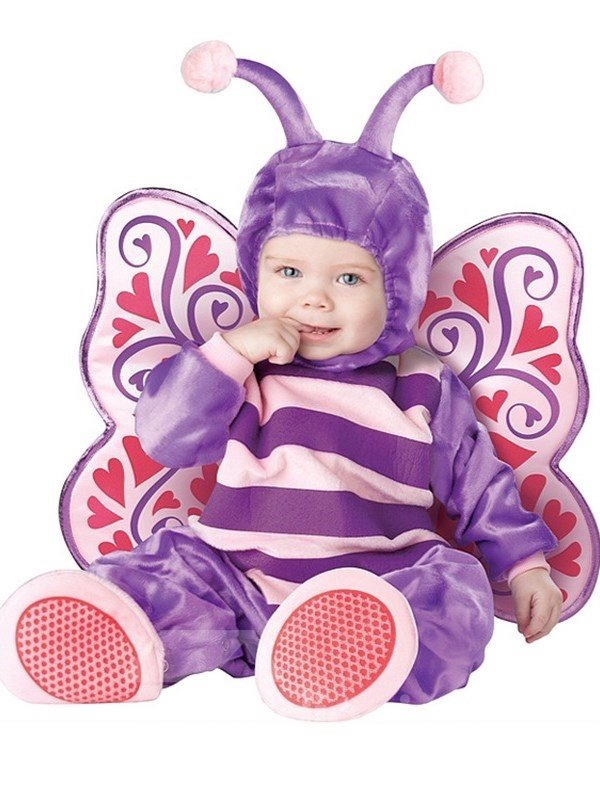 Butterfly Shaped Wings Decoration Polyester Purple Baby Costume