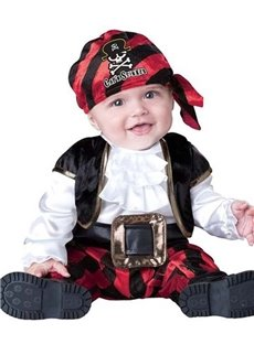 Little Pirate Christmas Gifts Polyester Black Baby Costume
