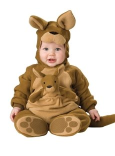 Kangaroo Shaped Tails Decoration Polyester Brown Baby Costume