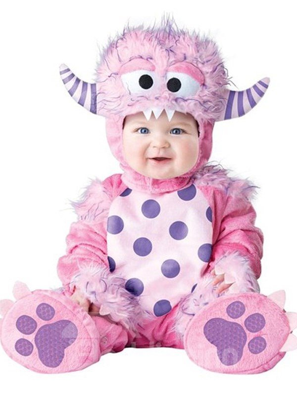 Little Sheep Shaped Cavel Decoration Polyester Pink Baby Costume
