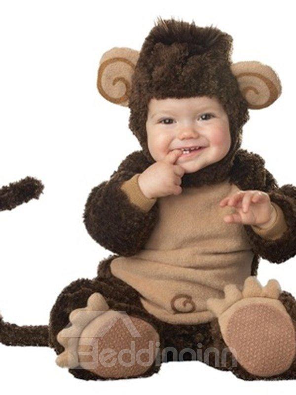 Monkey Shaped Tails Decoration Polyester Dark Gray Baby Costume
