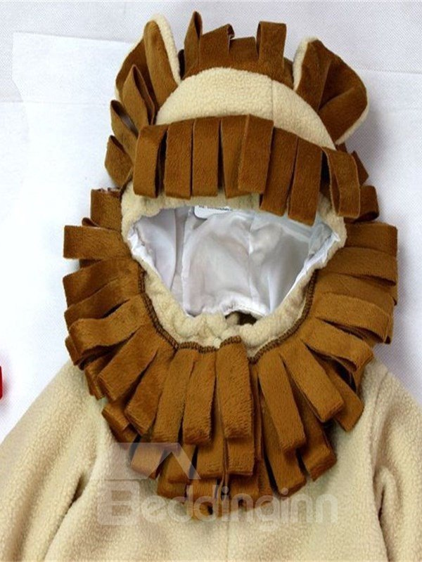 Lion Shaped Tail Decoration Polyester Brown Baby Costume
