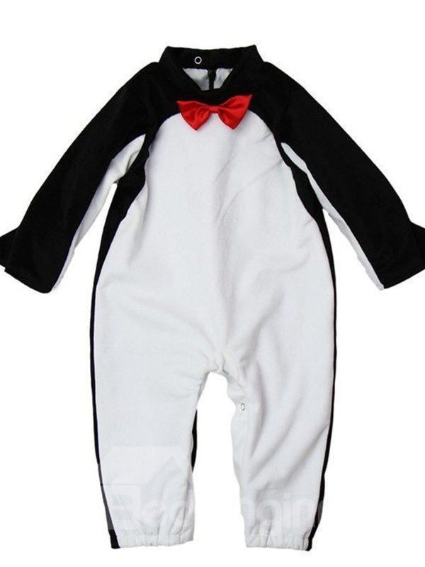 Penguin Shaped Polyester Black and Yellow Baby Costume