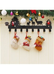 Snowman Decoration Classic Non-Woven Fabric and Wool Christmas Stocking