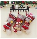 Christmas Tree Decoration Classic Non-Woven Fabric and Wool Christmas Stocking