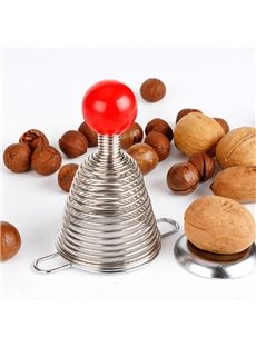 Stainless Steel Silicone Spiral Spring Nut Cracker